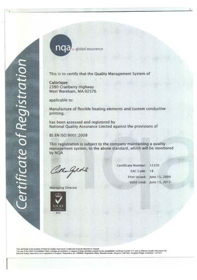 ISO2009 Zertifikat Calorique Heizfolie für Flächenheizung, Fußbodenheizung, Deckenheizung, Wandheizung