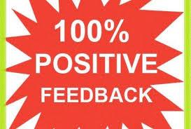 100 % positive feedback