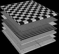 Verbau der Fußbodenheizung mit der Heizfolie Calorique unter Fliesen, PVC Boden