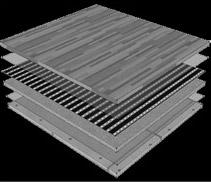 Aufbau der Fussbodenheizung mit der Infrarot Heizfolie Calorique und Schutzschirmung unter Laminat, Parkett, Holz, Dielen Bodenbelag