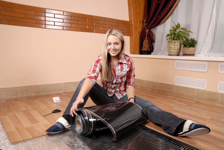 Infrarot   Heizfolie für elektrische Fußbodenheizung Deckenheizung